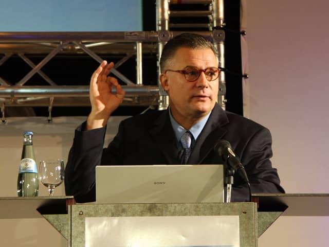 Redner bei einem Vortrag